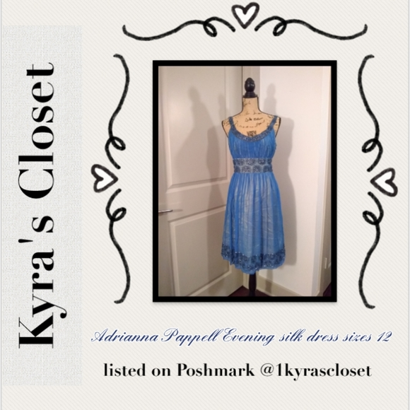 Adrianna Pappell Evening Dresses & Skirts - Adrianna Pappell Evening silk dress sz 12